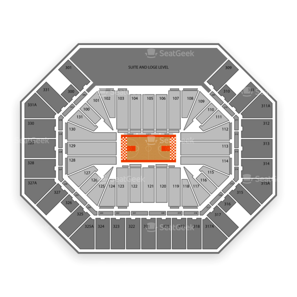 tennessee interactive seating chart: Thompson boling arena seating chart seatgeek