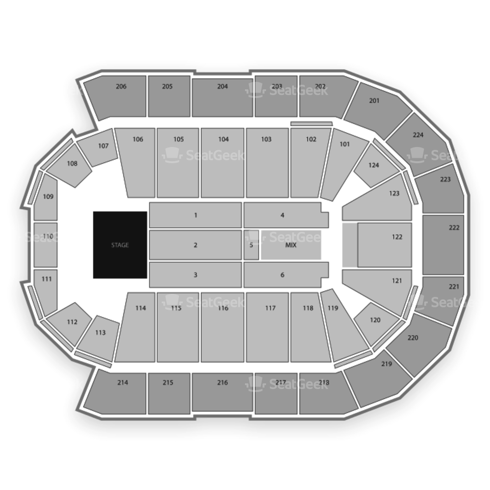 Spokane Arena Seating Chart Concert
