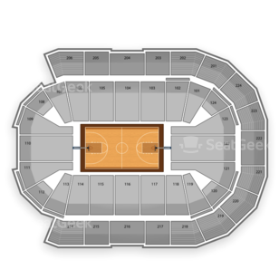 Spokane Arena Seating Chart NCAA Basketball