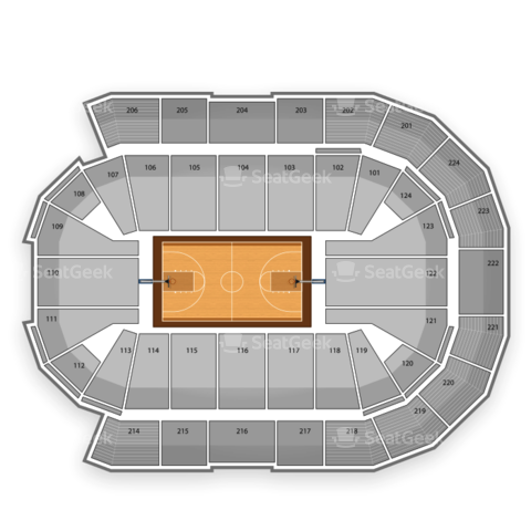 Spokane Arena seating chart NCAA Mens Basketball Tournament