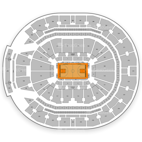 Chase Center Seating Chart Map Seatgeek
