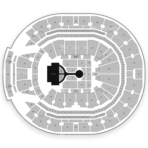 Chase Center Seating Chart Concert