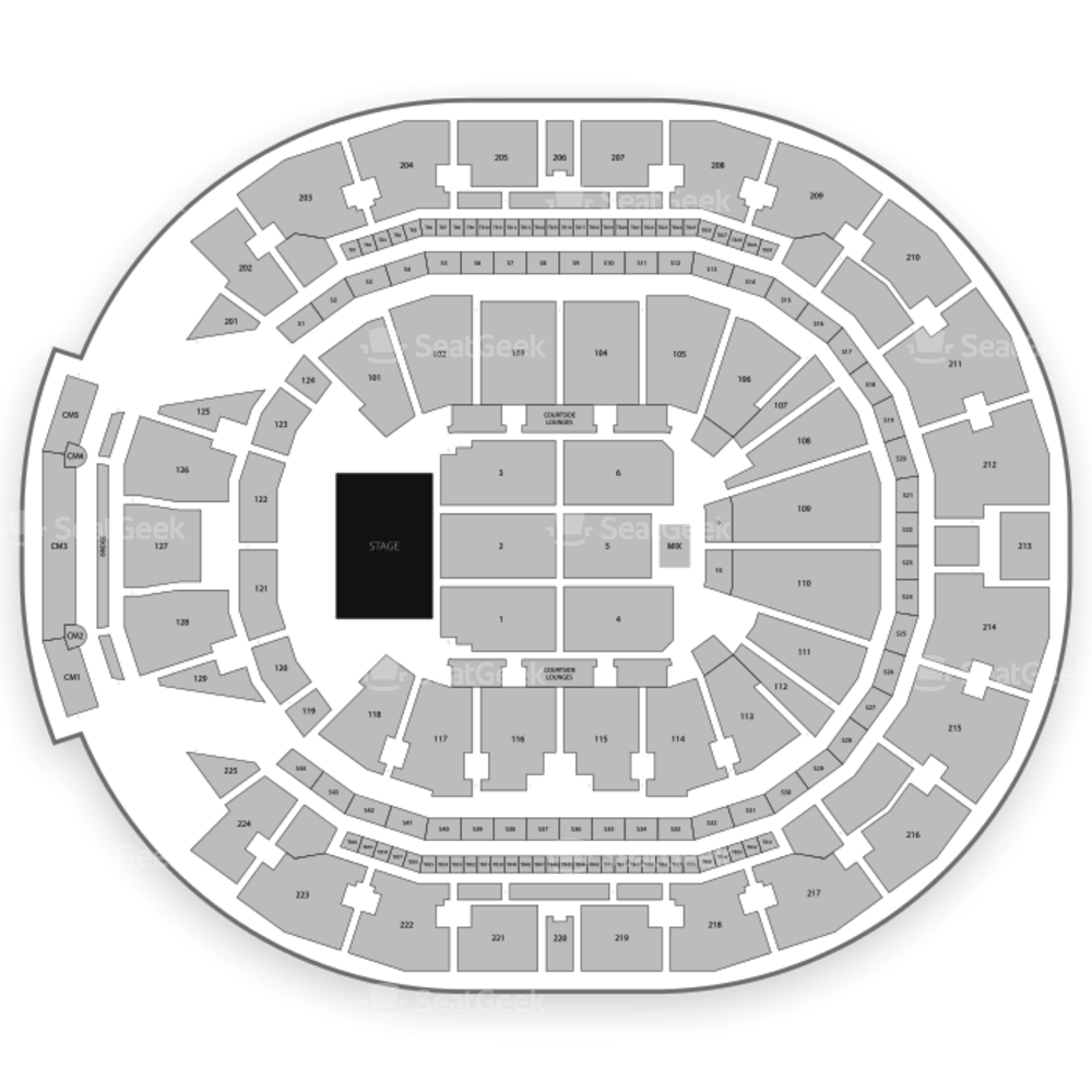 Chase Center Seating Chart Classical