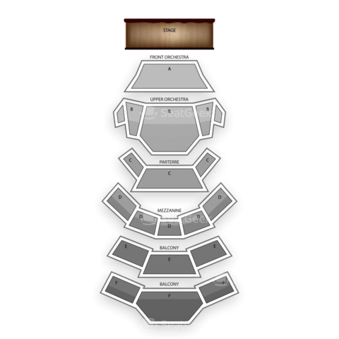 Kauffman Center for the Performing Arts seating chart Sandy Hacketts Rat Pack Show