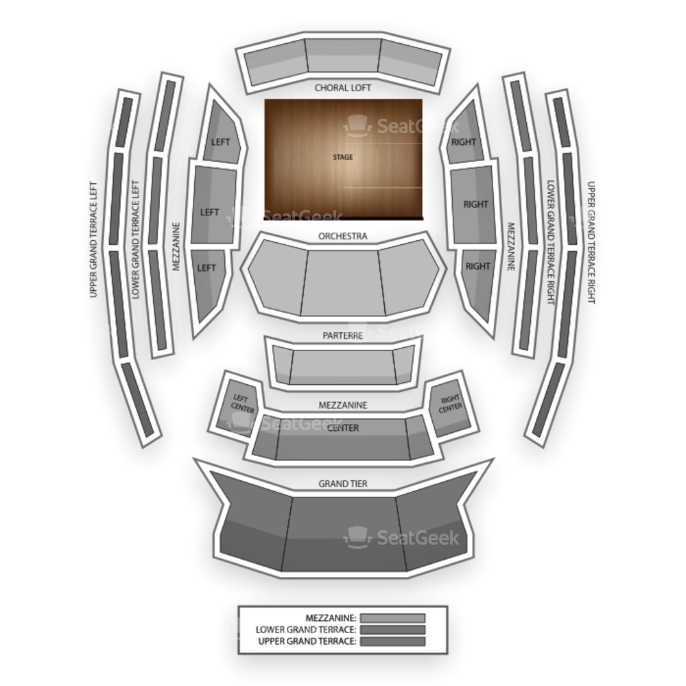 Kauffman Center for the Performing Arts Seating Chart Concert
