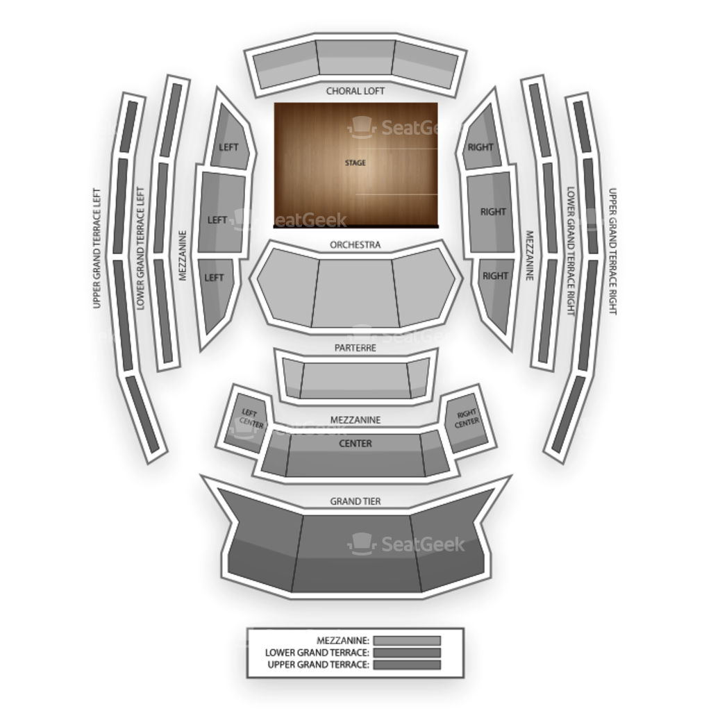 Kauffman Center For The Performing Arts Seating Chart Map