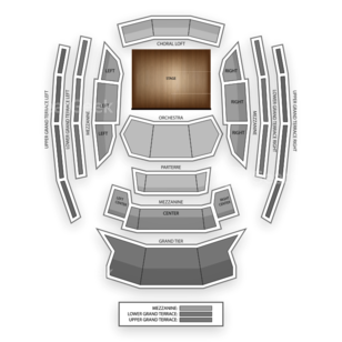 Kauffman Center for the Performing Arts Seating Chart Classical