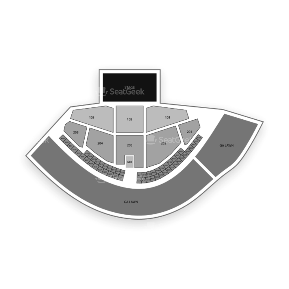 Gorge Amphitheatre Seating Chart Parking