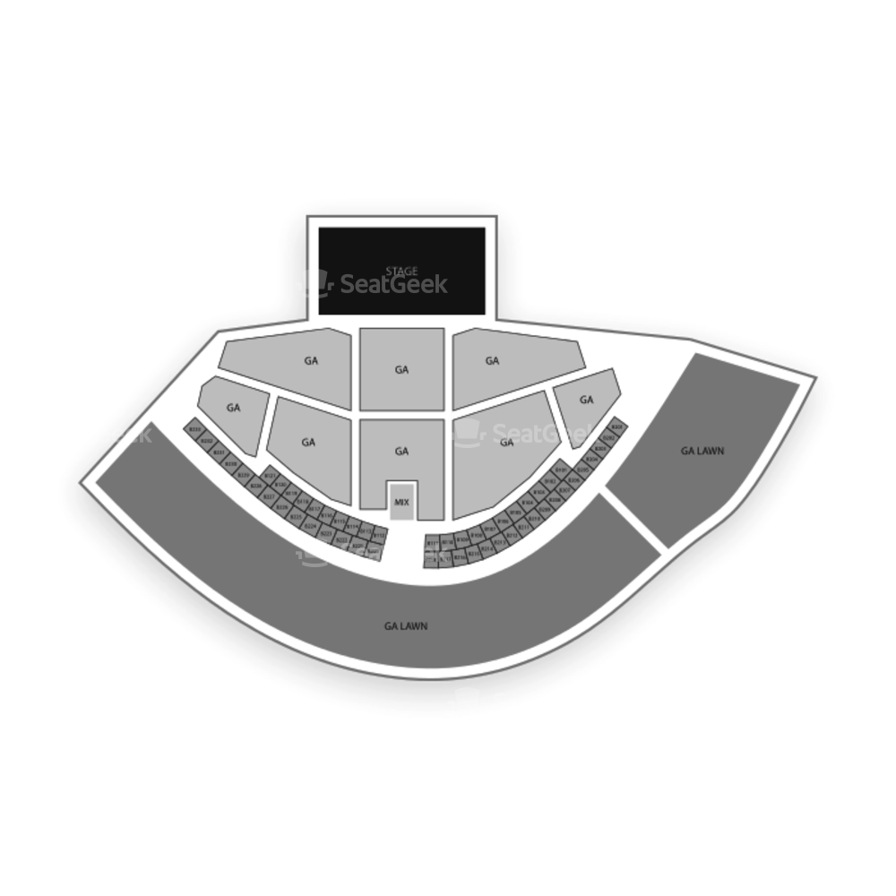 Gorge Amphitheatre Seating Chart Concert