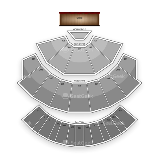 Planet Hollywood Theatre for the Performing Arts Seating Chart