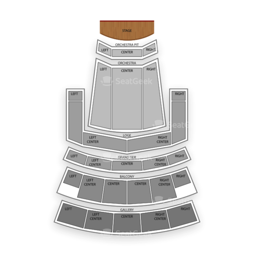 Orpheum Theater Seating Chart Concert