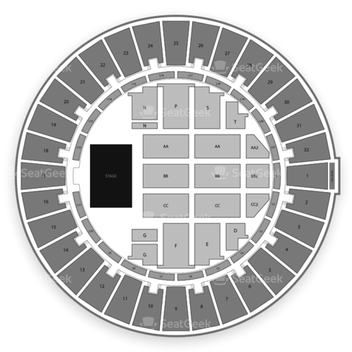 Neal S. Blaisdell Arena Parking Lots Seating Chart Concert