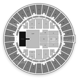 Blaisdell Arena Seating Chart Concert