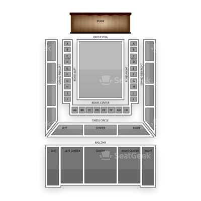 Lyric Opera House seating chart Alvin Ailey American Dance Theater