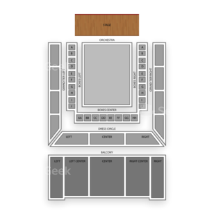 Lyric Opera House Seating Chart Dance Performance Tour