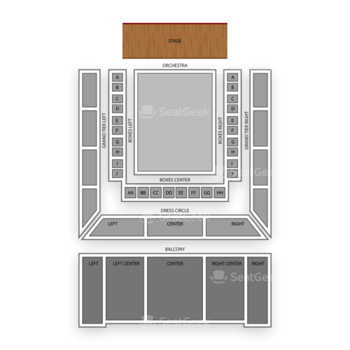 Modell Performing Arts Center at the Lyric Seating Chart Concert