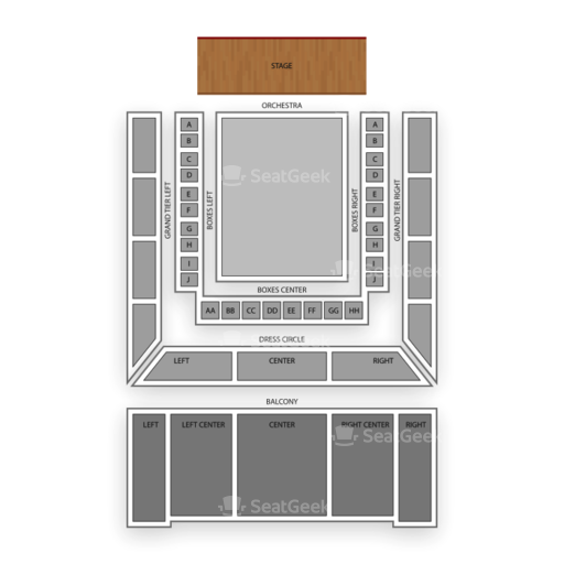 Modell Performing Arts Center At The Lyric Seating Chart