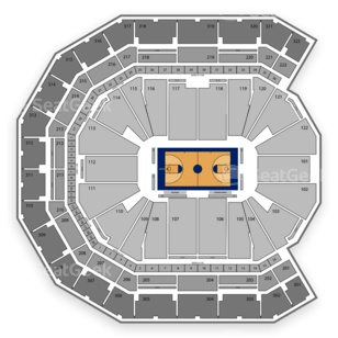 Nebraska Cornhuskers Basketball Seating Chart