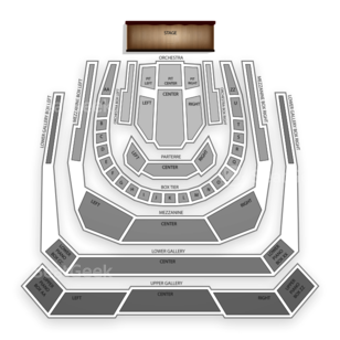 Bass Performance Hall Seating Chart Concert