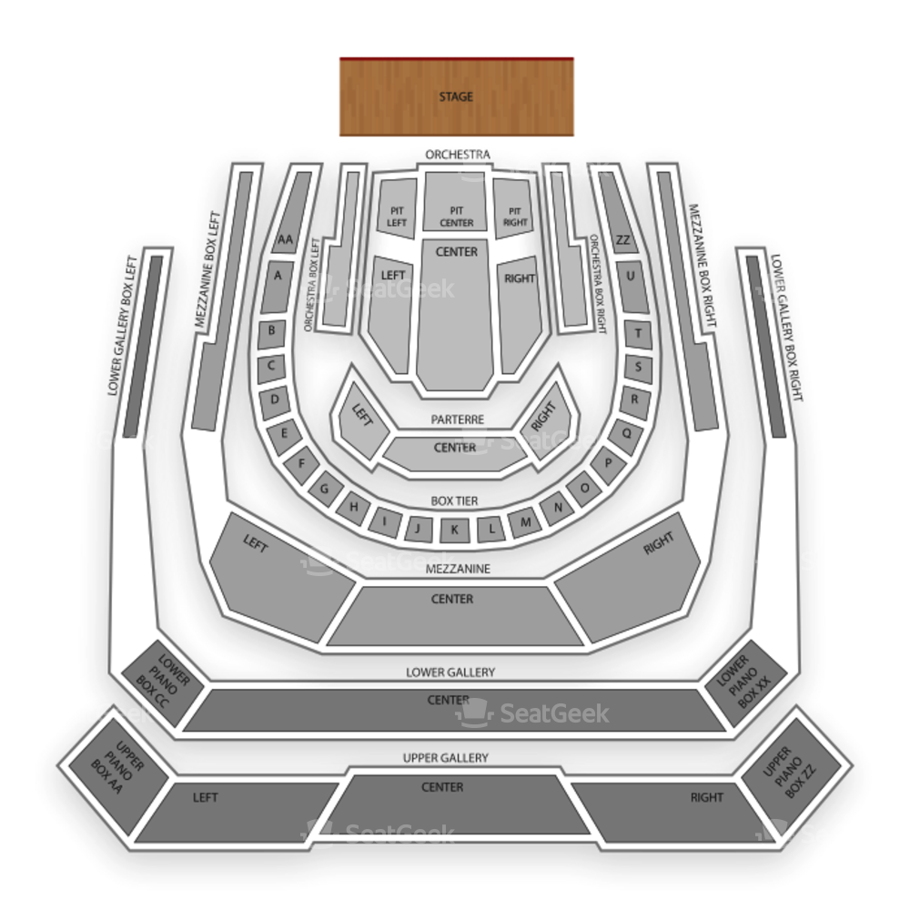 Bass Performance Hall Seating Chart Classical Opera