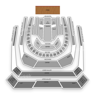 Bass Performance Hall Seating Chart Classical Orchestral Instrumental