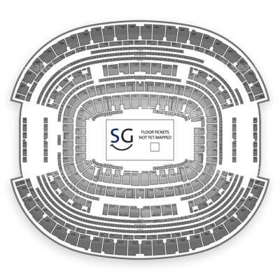 AT&T Stadium seating chart Academy of Country Music Awards