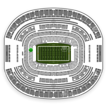 Dallas Cowboys at AT&T Stadium Section 124 View