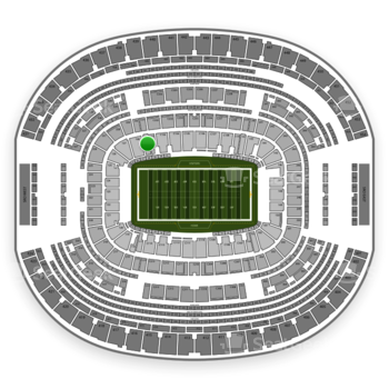 Dallas Cowboys at AT&T Stadium Section 129 View