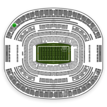 Dallas Cowboys at AT&T Stadium Section 434 View