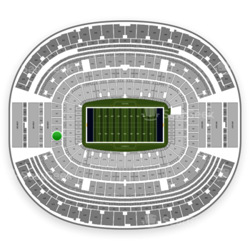 Dallas Cowboys at AT&T Stadium Section 221 View