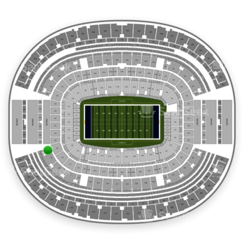 Dallas Cowboys at AT&T Stadium Section 320 View