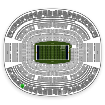 Dallas Cowboys at AT&T Stadium Section 419 View