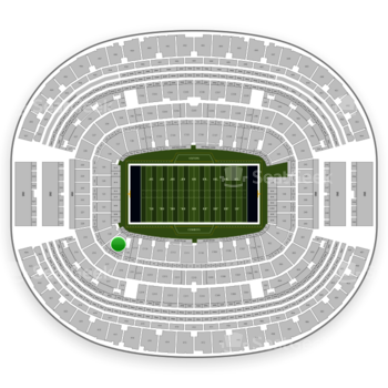Dallas Cowboys at AT&T Stadium Section 119 View