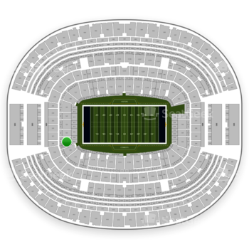 Dallas Cowboys at AT&T Stadium Section 121 View