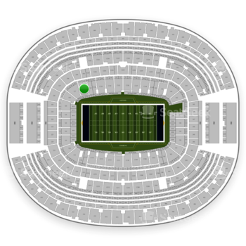 Dallas Cowboys at AT&T Stadium Section 128 View