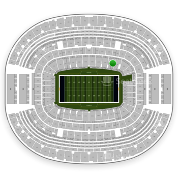 Dallas Cowboys at AT&T Stadium Section 142 View