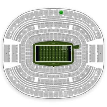 Dallas Cowboys at AT&T Stadium Section 444 View