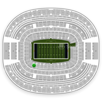NFL at AT&T Stadium Section 118 View