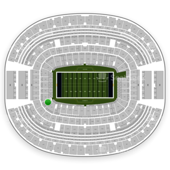 NFL at AT&T Stadium Section 120 View