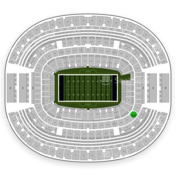 NFL at AT&T Stadium Section 202 View