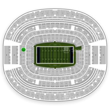 NFL at AT&T Stadium Section 224 View