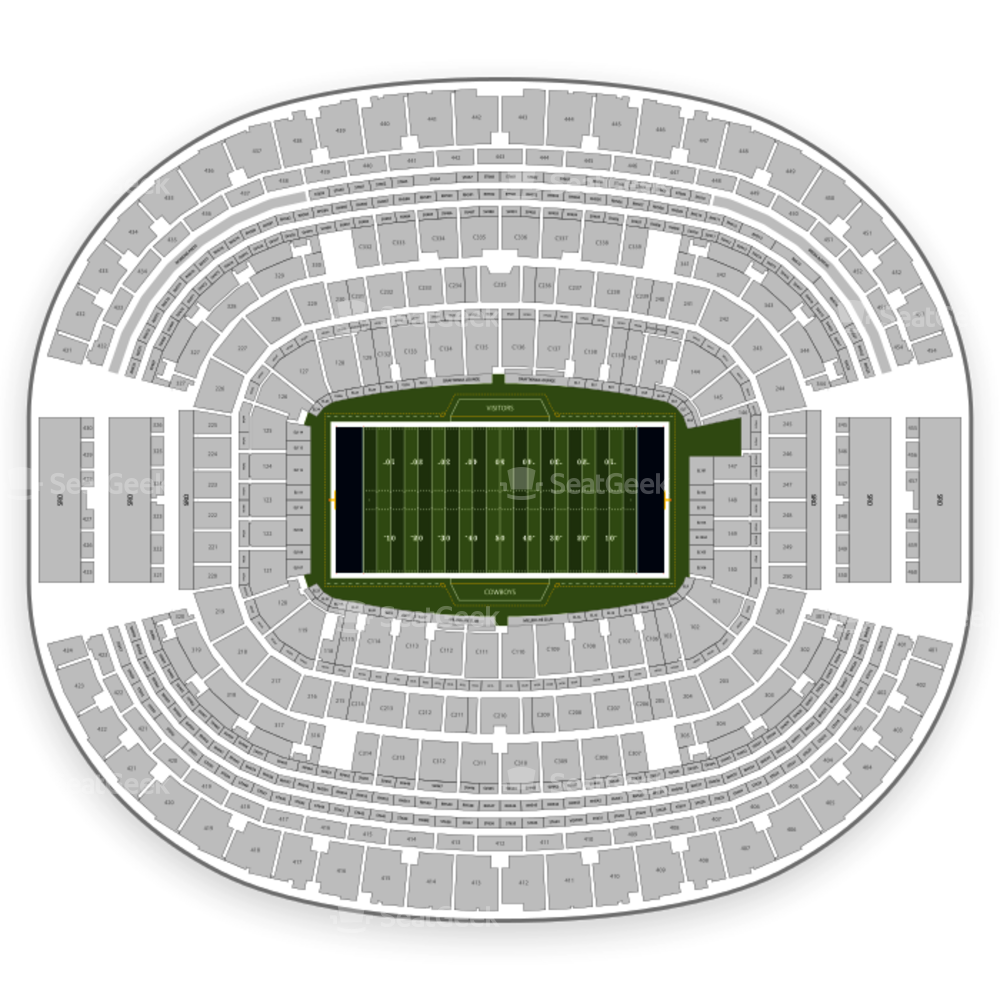 AT&T Stadium Seating Chart & Map | SeatGeek