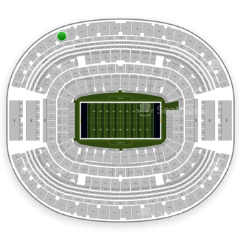 Dallas Cowboys at AT&T Stadium Section 437 View