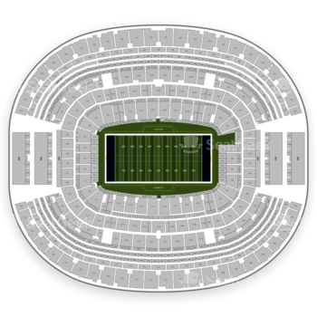NFL at AT&T Stadium Section 210 View