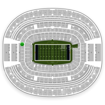 NFL at AT&T Stadium Section 225 View