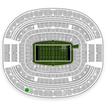 NFL at AT&T Stadium Section 418 View