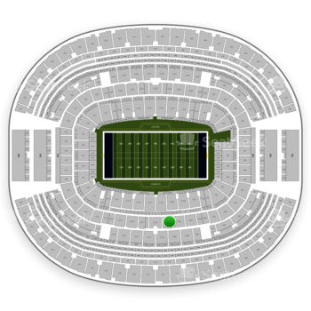 Dallas Cowboys at AT&T Stadium Section C 209 View