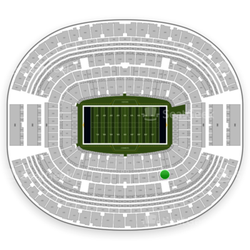 Dallas Cowboys at AT&T Stadium Section 205 View
