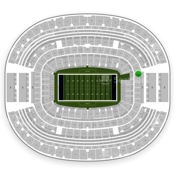 Dallas Cowboys at AT&T Stadium Section 245 View