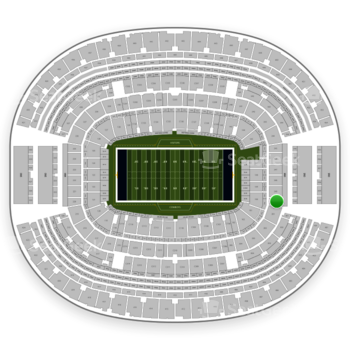 Dallas Cowboys at AT&T Stadium Section 250 View